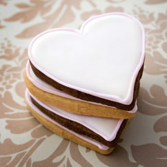 heart shortbread