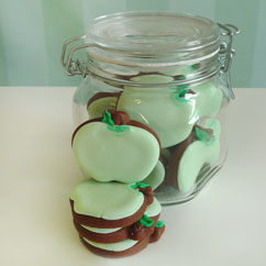 mini apple cookies